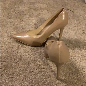 Nude Guess pointy toe pumps